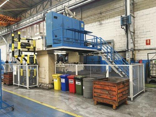 Left view of dye fpf 2 c n c machine
