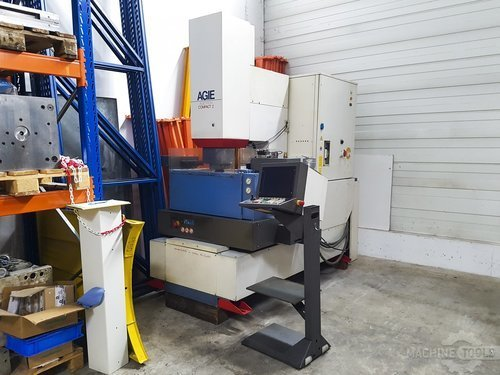 Right view of agie agietron compact 2 machine