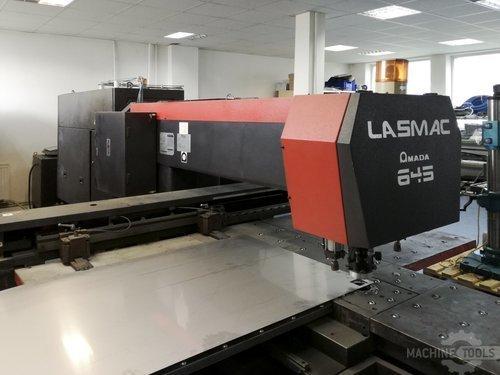 Left view of amada lce 645 machine