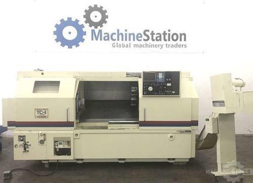 Used takisawa tc 4 cnc turning center machinestation usa