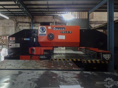 Front view of amada vela ii 355 machine