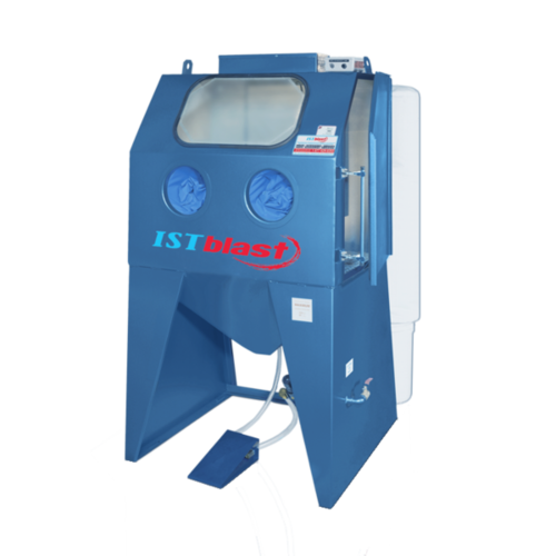 Ecab series   semi industrial sandblasting cabinets with media reclaimer   istblast