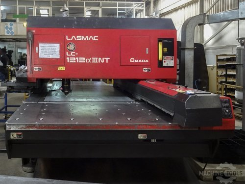 Front view of amada lc 1212 a3 nt machine
