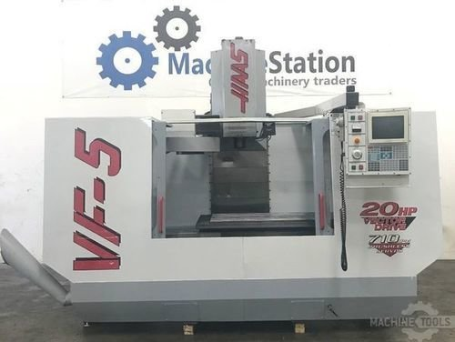 Used haas vf 5 vertical machining center usa