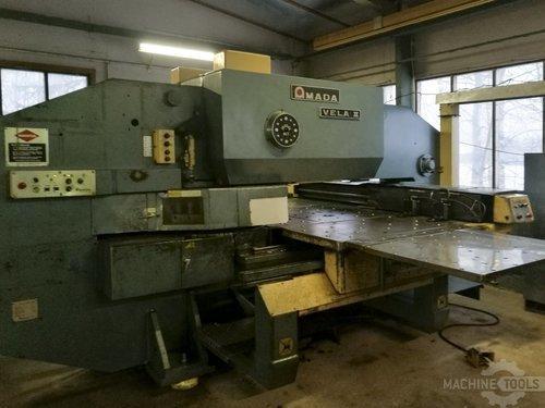 Left view of amada vela ii machine