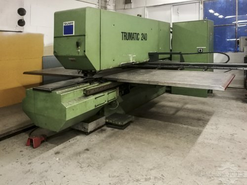 Left view of trumpf trumatic 240 machine