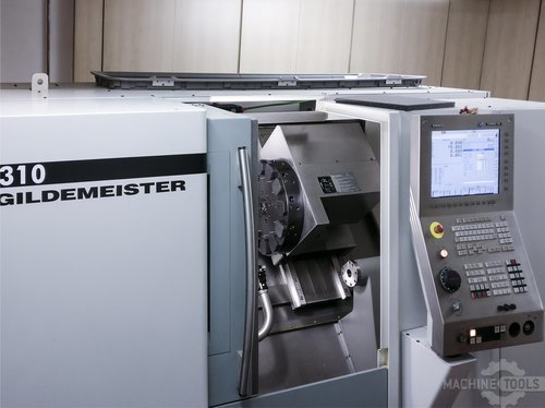 Front view of gildemeister ctx 310 machine
