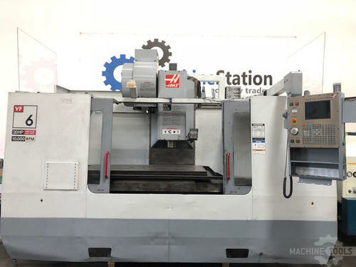 Used haas vf 6d 40 vertical machining center in california usa