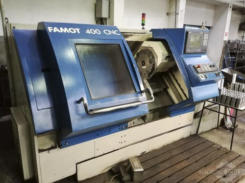 Left view of famot cnc 400 machine