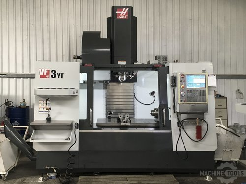 Front view of haas vf 3yt 50 machine