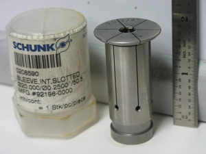 Schunk 20   .25in sleeve   use this one